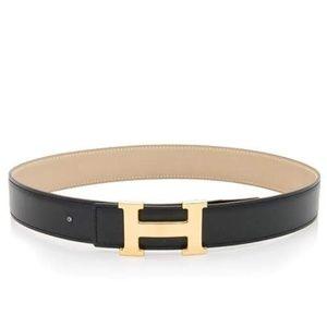 Hermes Black Reversible Belt